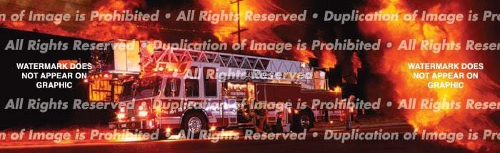 Ladder Truck Rear Window Graphic - Custom Vinyl Graphics