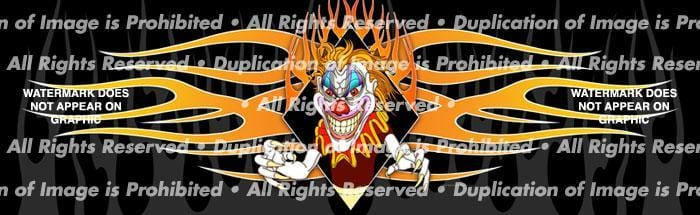 Psycho Clown Rear Window Graphic - Custom Vinyl Graphics