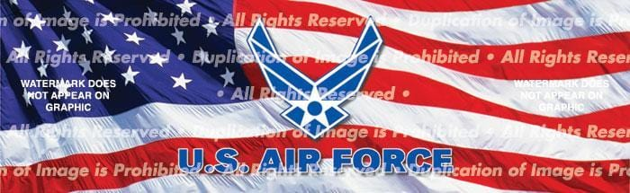 US Air Force 2 Rear Window Graphic - Custom Vinyl Graphics