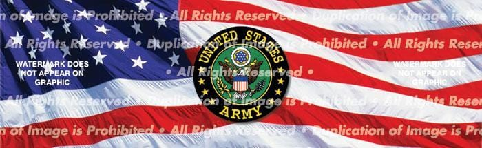 US Army Rear Window Graphic - Custom Vinyl Graphics