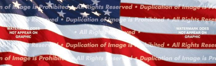 US Flag 1 Rear Window Graphic - Custom Vinyl Graphics