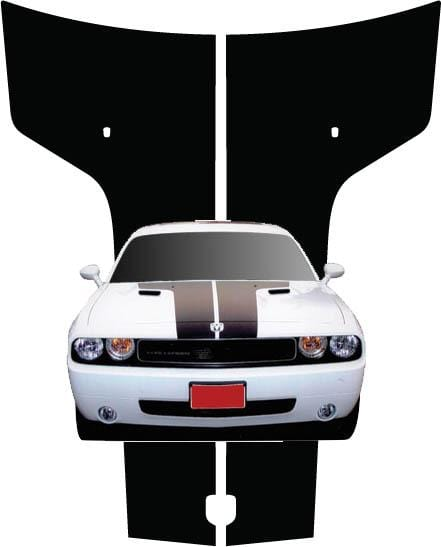 Challenger Hood Stripes - Custom Vinyl Graphics