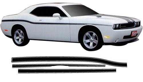 Challenger Lower Body Stripes - Custom Vinyl Graphics