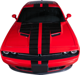 Custom Auto Designs Challenger Challenger Full Rally Stripe