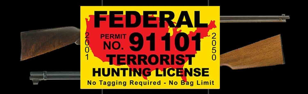 Anti-Terrorist Rear Window Graphic - Custom Vinyl Graphics