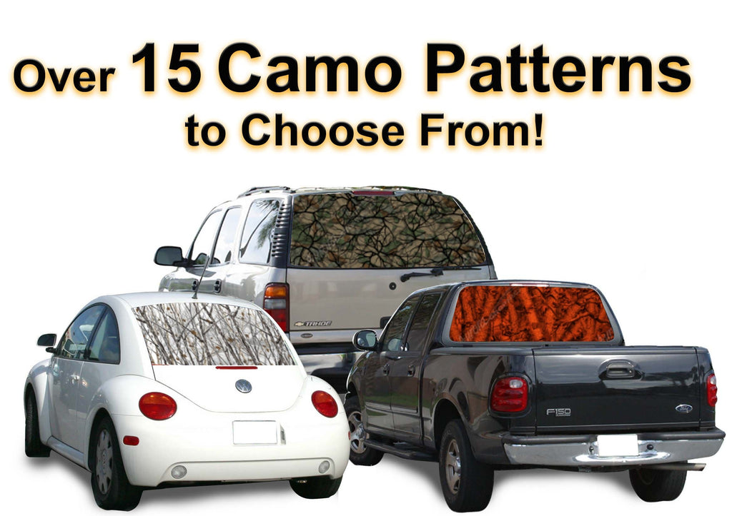 Custom Camouflage Rear Window Graphic - Custom Vinyl Graphics