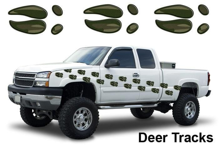 Deer Tracks Camo Vinyl Graphic - Custom Vinyl Graphics