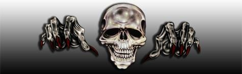 Gonna Getcha Skull Rear Window Graphic - Custom Vinyl Graphics