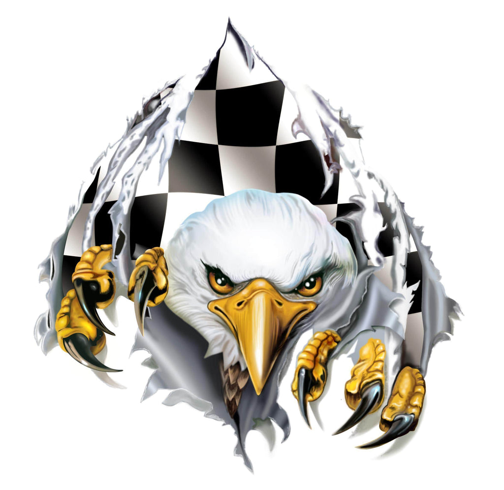 RipNTear Checkered Flag Center Vinyl Graphic - Custom Vinyl Graphics