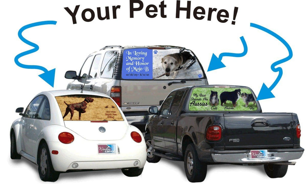 Your Pet Custom Rear Window Graphic - Custom Vinyl Graphics