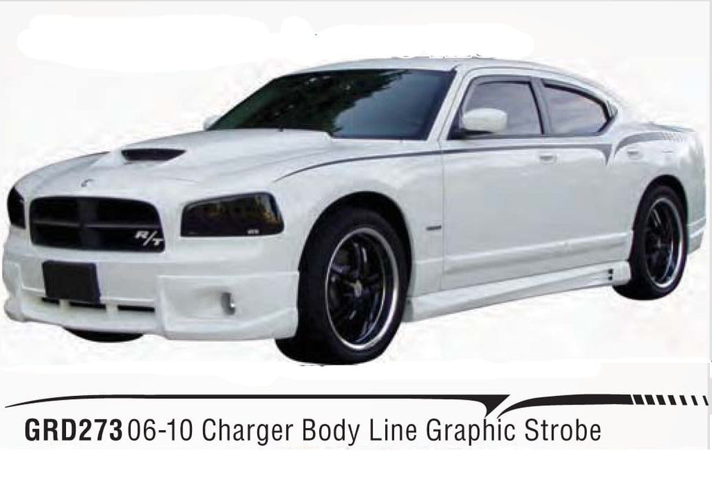 Dodge Charger Body Line Strobe Graphic Custom Vinyl Graphics
