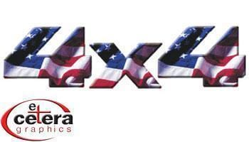 4X4 Enhanced Stars & Stripes Vinyl Graphic - Custom Vinyl Graphics