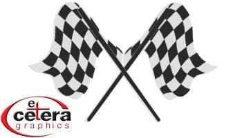 Et Cetera-Checkered Flags Small Vinyl Graphic-Custom Vinyl Graphics