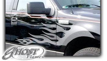 Ghost Flames 103 Vinyl Graphic - Custom Vinyl Graphics