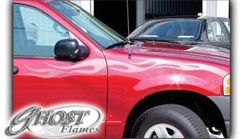 Ghost Flames 105 Vinyl Graphic - Custom Vinyl Graphics