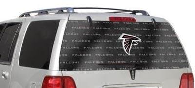 Atlanta Falcons Rear Window Graphic - Custom Vinyl Graphics