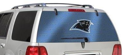 Carolina Panthers Rear Window Graphic - Custom Vinyl Graphics