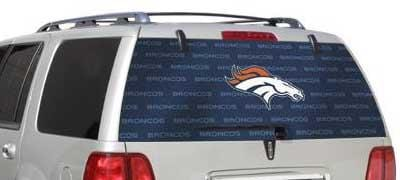 Denver Broncos Rear Window Graphic - Custom Vinyl Graphics