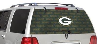 Green Bay Packers Rear Window Graphic - Custom Vinyl Graphics