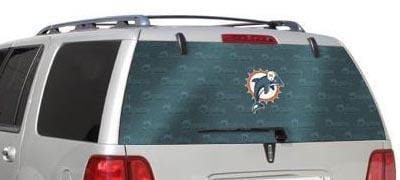 Glass Tatz Miami Dolphins Rear Window Graphic