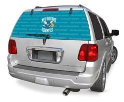 New Orleans Hornets Rear Window Graphic - Custom Vinyl Graphics