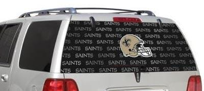New Orleans Saints Rear Window Graphic - Custom Vinyl Graphics