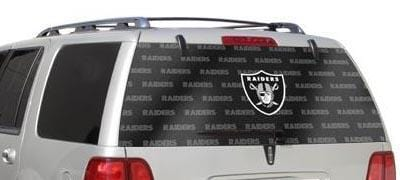 Oakland Raiders Rear Window Graphic - Custom Vinyl Graphics