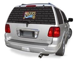 Philadelphia 76ers Rear Window Graphic - Custom Vinyl Graphics