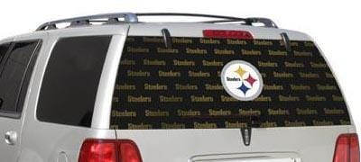 Pittsburgh Steelers Rear Window Graphic - Custom Vinyl Graphics