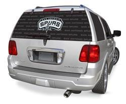 San Antonio Spurs Rear Window Graphic - Custom Vinyl Graphics
