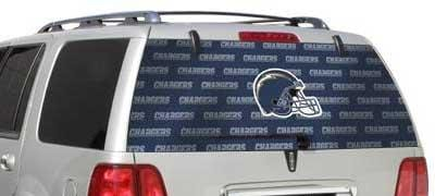 San Diego Chargers Rear Window Graphic - Custom Vinyl Graphics