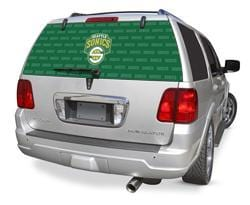 Seattle Supersonics Rear Window Graphic - Custom Vinyl Graphics