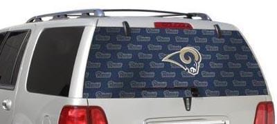 St Louis Rams Rear Window Graphic - Custom Vinyl Graphics