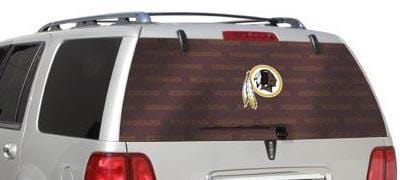 Washington Redskins Rear Window Graphic - Custom Vinyl Graphics