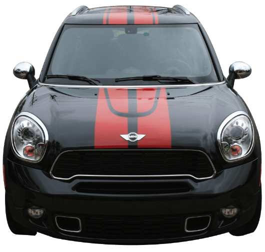 Mini Countryman Triton Stripe - Roof - Custom Vinyl Graphics