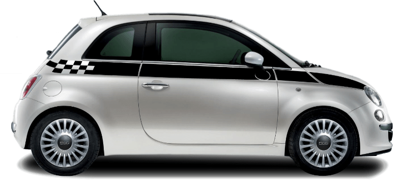 Fiat 500 Upper Stripe Check - Custom Vinyl Graphics