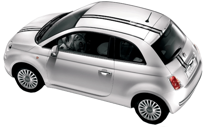 Fiat 500 Italian Rally Stripes - Custom Vinyl Graphics