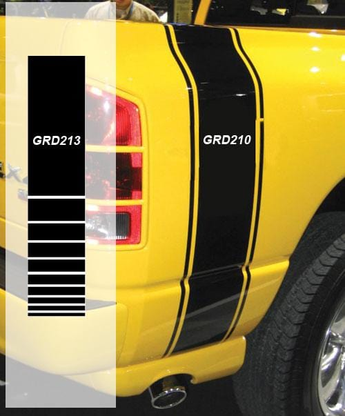 Dodge Ram Bed Kit Strobe Stripe - Custom Vinyl Graphics