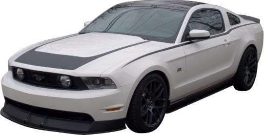 Mustang Aggressor Hood Stripe - Custom Vinyl Graphics
