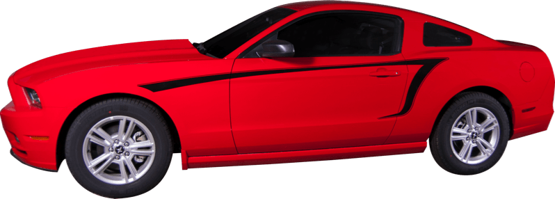 Mustang Quaver Stripe (10-14) - Custom Vinyl Graphics
