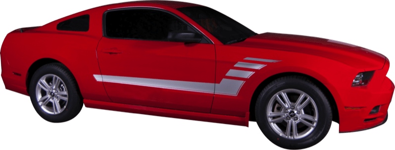 Mustang Strobe Stripe (10-14) - Custom Vinyl Graphics
