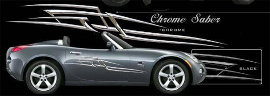 Chrome Saber Large Vinyl Graphic - Custom Vinyl Graphics