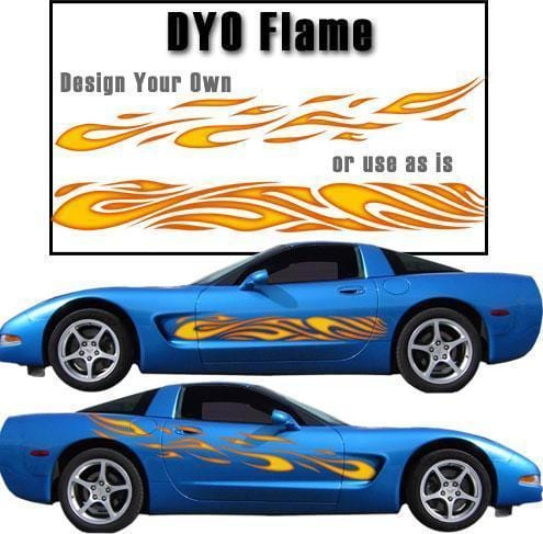 DYO Flame Large Vinyl Graphic - Custom Vinyl Graphics