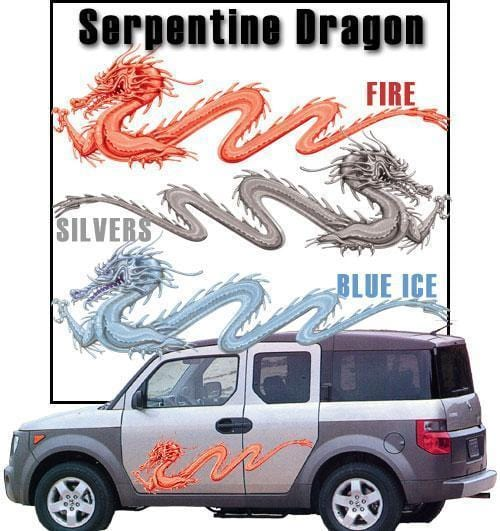 Serpentine Dragon Vinyl Graphic - Custom Vinyl Graphics