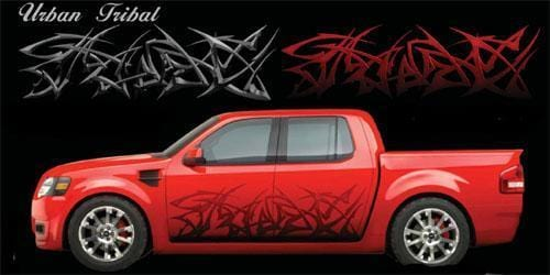 Urban Tribal Large Vinyl Graphic - Custom Vinyl Graphics