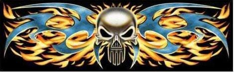 CVG Exclusive Rears Tribal Flame Punisher Rear Window Decal