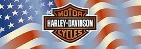 Americana Bar And Shield Centered Harley-Davidson Rear Window Graphic - Custom Vinyl Graphics