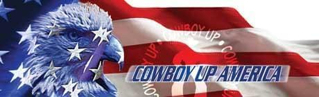 Cowboy Up America Rear Window Graphic - Custom Vinyl Graphics