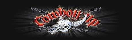 Cowboy Up Skull Rear Window Graphic - Custom Vinyl Graphics