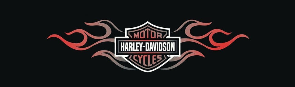 Double Flame Bar And Shield Logo Harley-Davidson Rear Window Graphic - Custom Vinyl Graphics